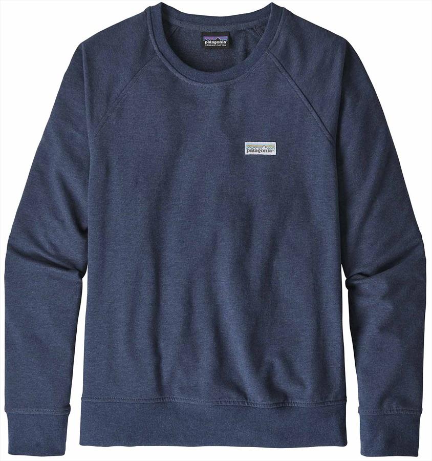 Patagonia Womens Pastel P-6 Logo Ahnya Crew Sweatshirt, L Stone Blue