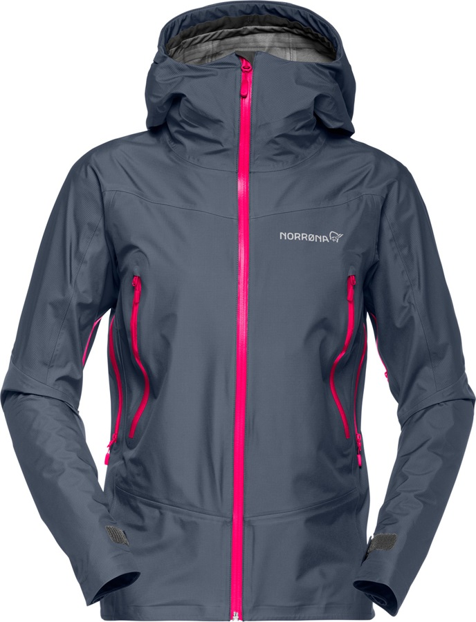 Norrona Falketind Gore-Tex Women's Waterproof Jacket UK14 Cool Black
