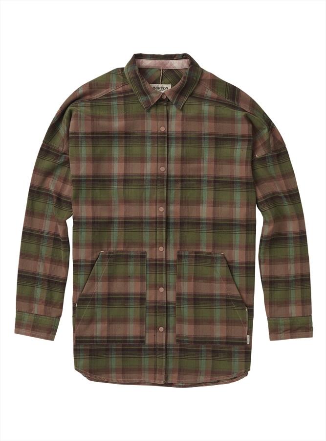 Burton Women's Teyla Flannel Long Sleeve Shirt, S Brownie Vista Plaid