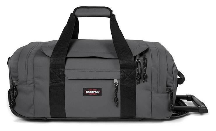 Eastpak Leatherface S Wheeled Duffel Bag, 38L Woven Grey