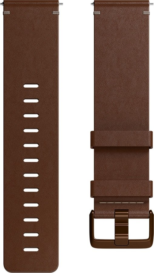 FitBit Versa Horween Leather Band Replaceable Strap, Large Cognac