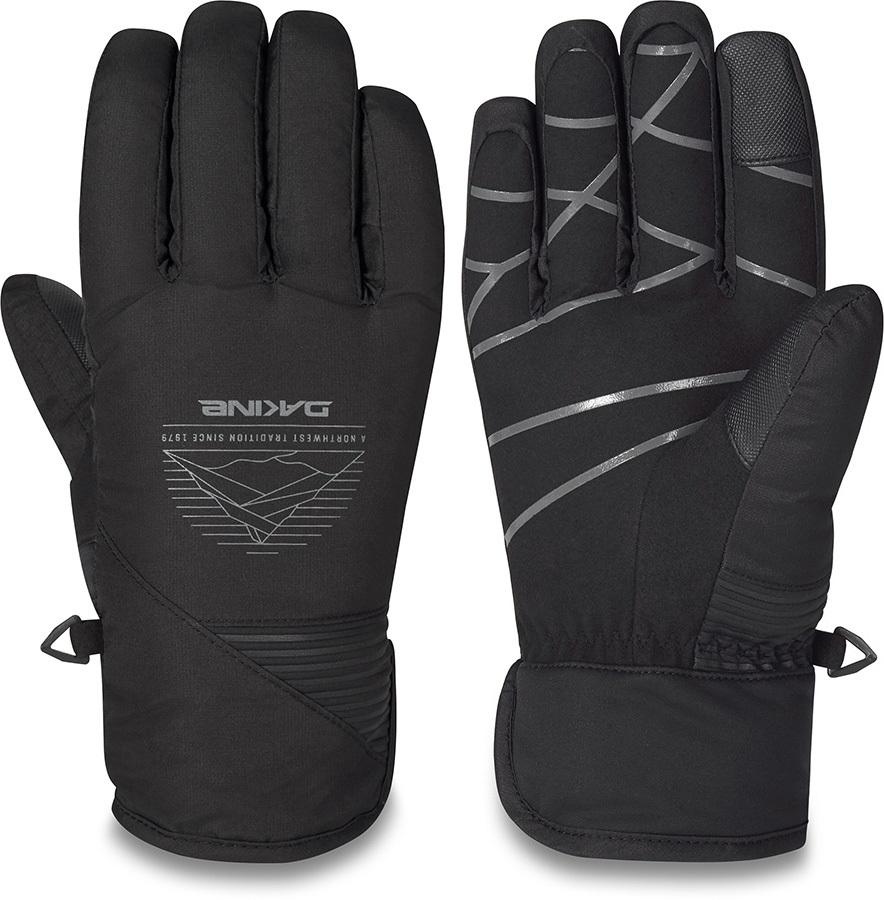Dakine Crossfire Slip On Ski/Snowboard Gloves, M Black Glacier
