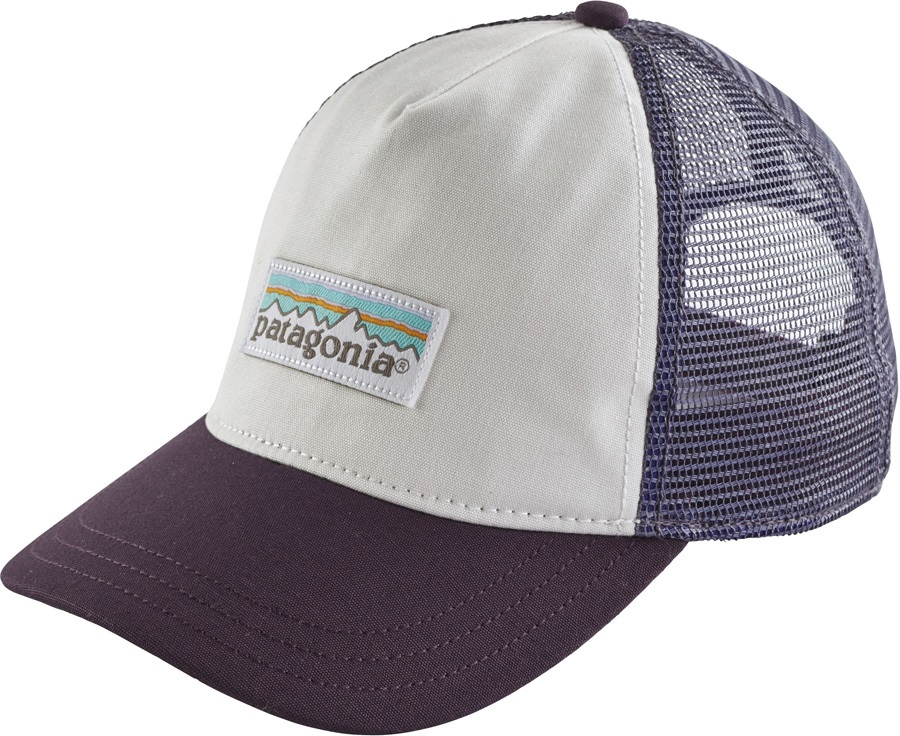 Patagonia Women's P-6 Label Layback Trucker Hat, White/Piton Purple