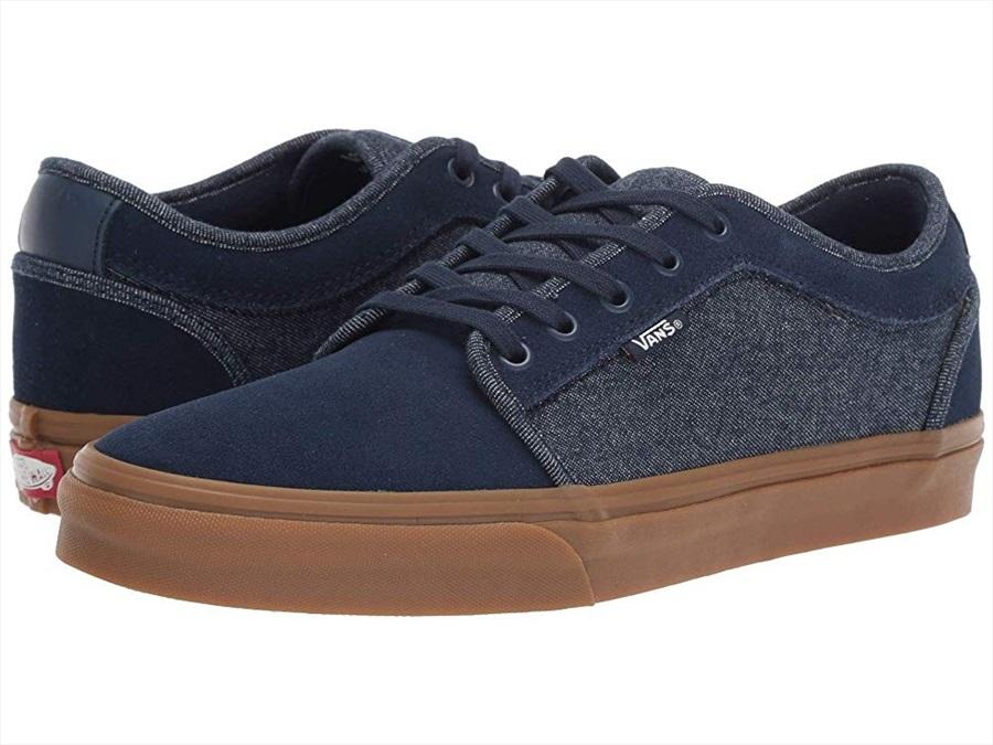 0a2310592483 Vans Chukka Low Skate Shoes, UK 7 Dress Blues/Classic Gum Denim