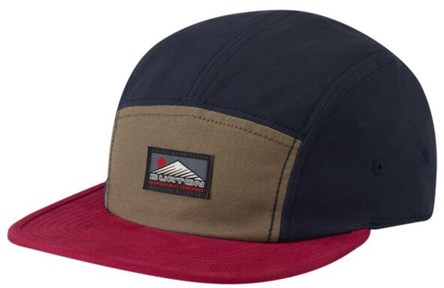 Burton Cordova 5-Panel Flat Cap Organic Cotton Hat, Dress Blue