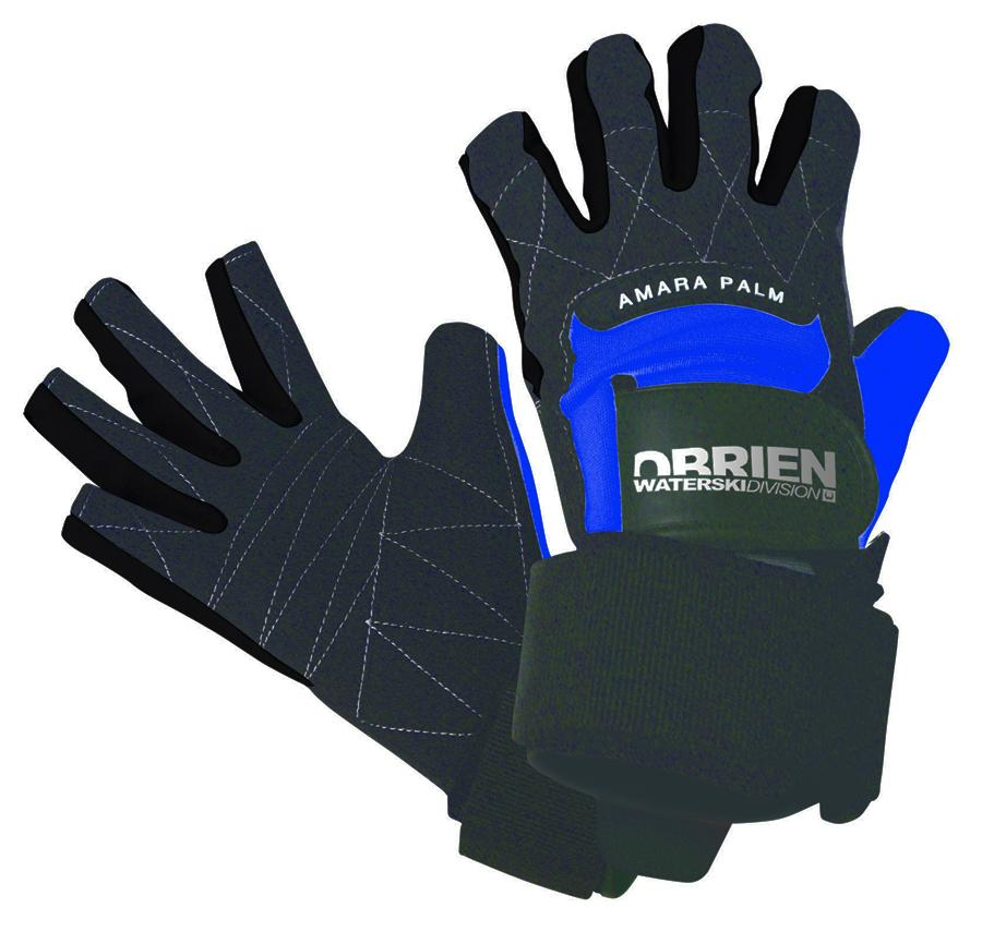 O'Brien Pro Skin 3/4 Waterski Wakeboard Gloves, XX Large Black Blue