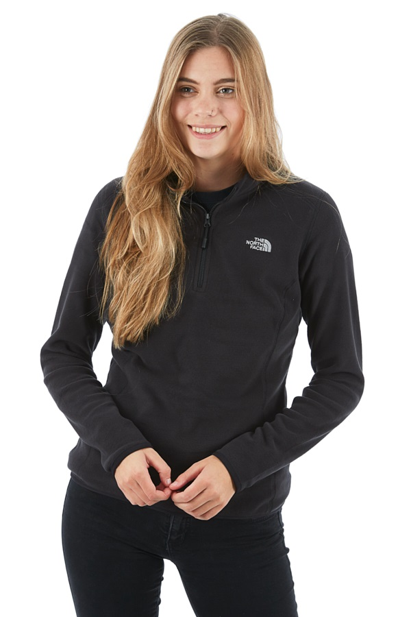 The North Face 100 Glacier 1/4 Zip Women's Fleece, S / UK 10 TNF Black