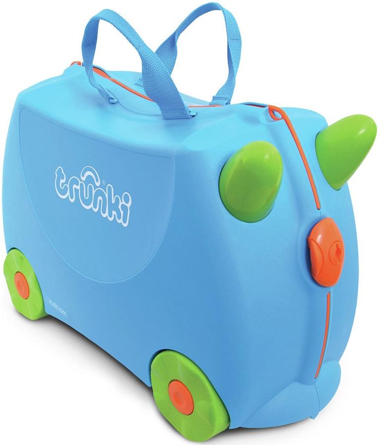 Trunki Terrence Kid's Wheeled Hand Luggage, 18L Blue