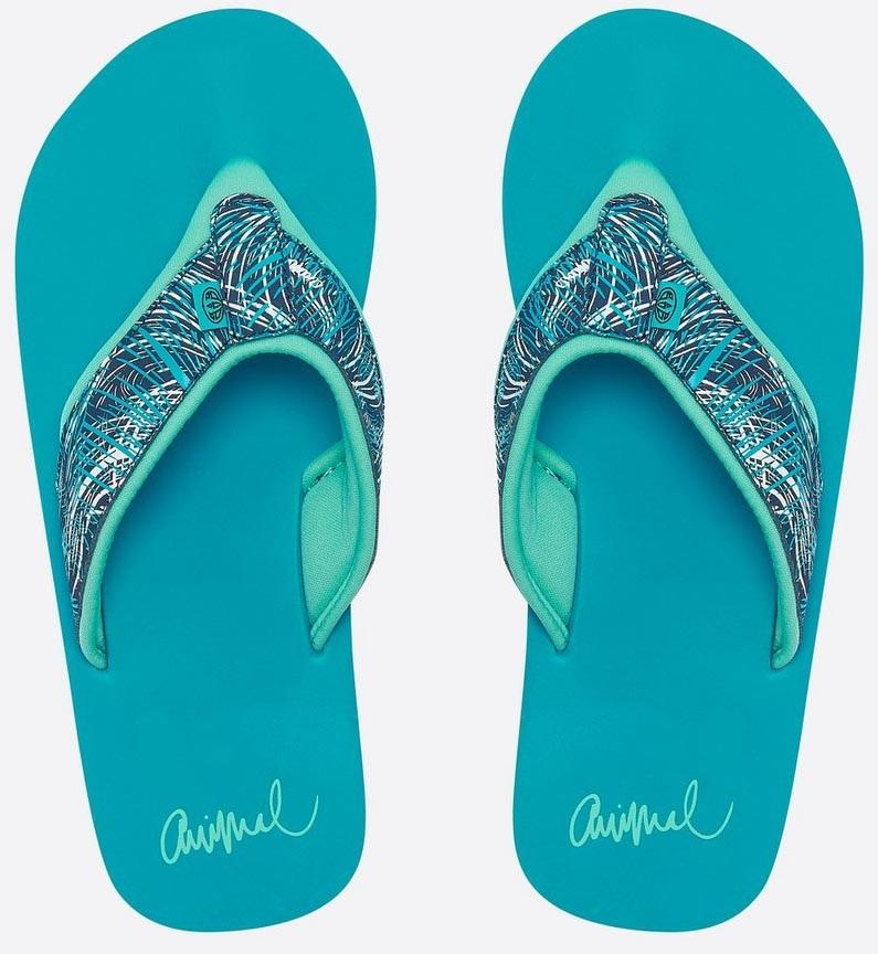 Animal Swish Upper Aop Women's Flip Flops, UK 5 Capri Blue