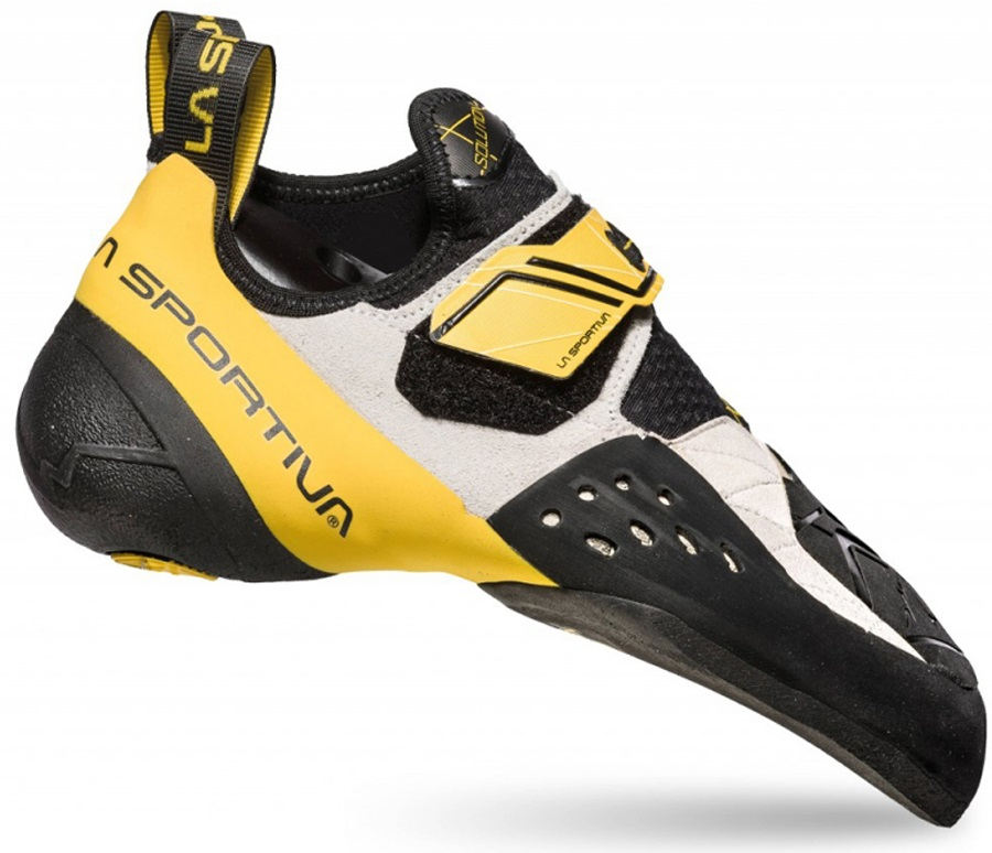 La Sportiva Solution Rock Climbing Shoe: UK 7.5 | EU 41, White/Yellow