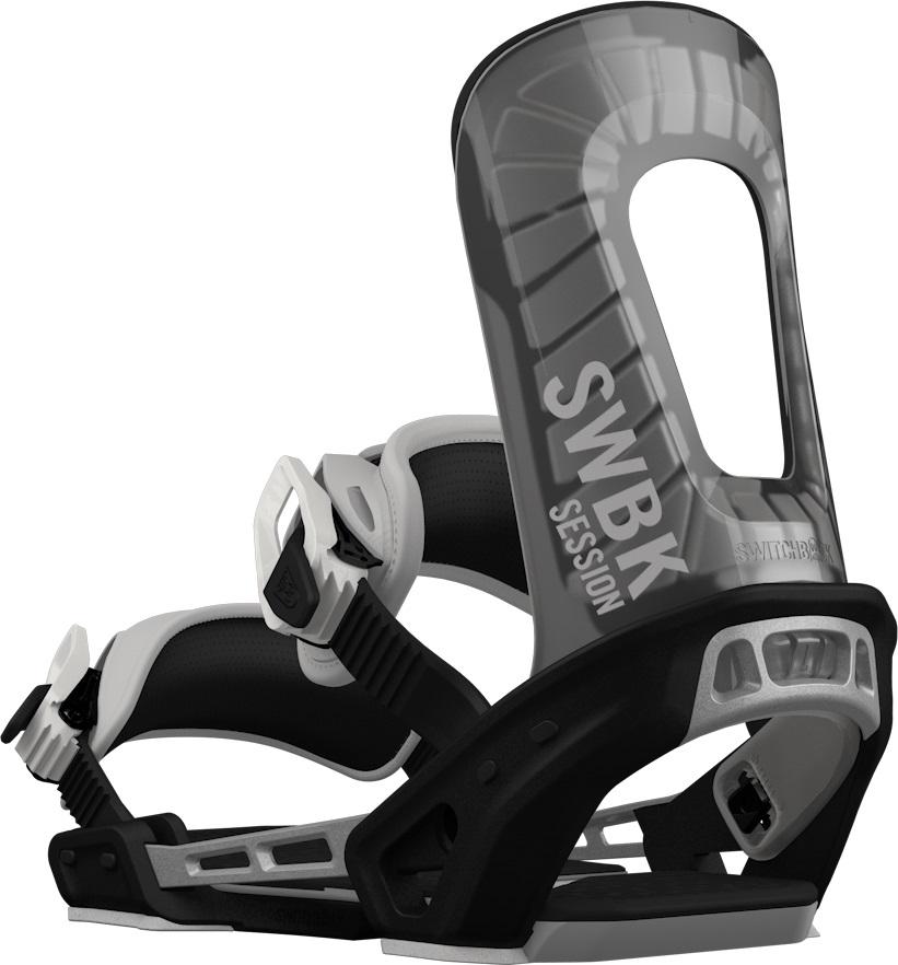 Switchback Session Snowboard Binding, XS-M Grey/Black 2019
