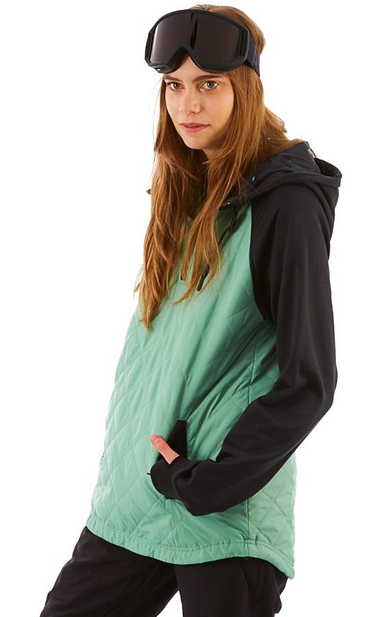 Saga Quilted Anorak Women's Ski/Snowboard Jacket, M Lichen