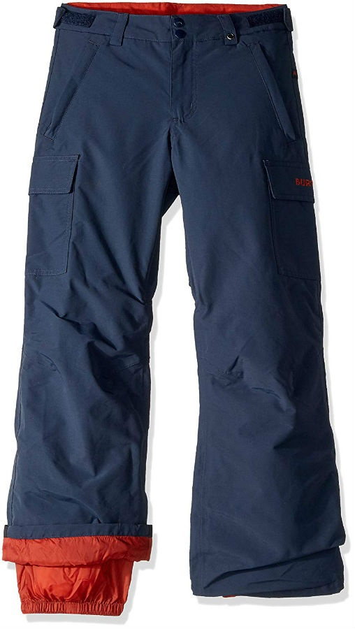 Burton Boys Exile Cargo Snowboard Pants, Medium Sparrow/Mood Indigo
