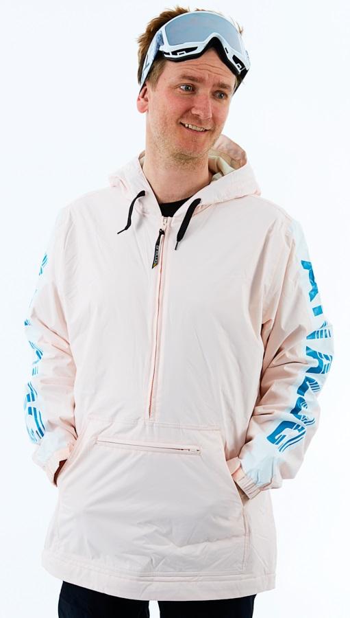 Analog Chainlink Anorak Ski/Snowboard Pullover Jacket, M Crystal