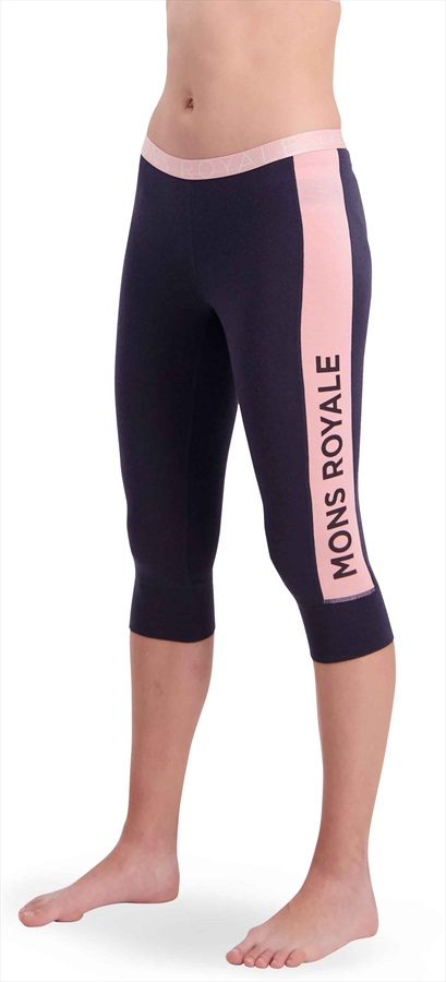 Mons Royale Alagna Women's Merino Wool 3/4 Leggings L 9 Iron