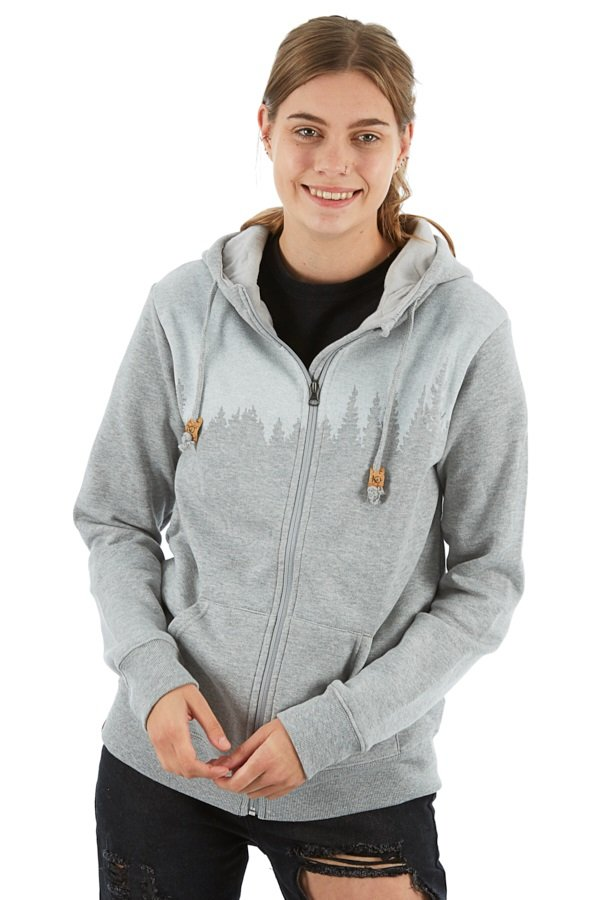 Tentree Juniper Women's Zip Hoodie, L Hi Rise Grey Heather