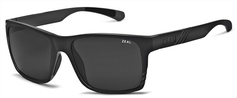 Zeal Brewer Sunglasses Matte Black Dark Grey
