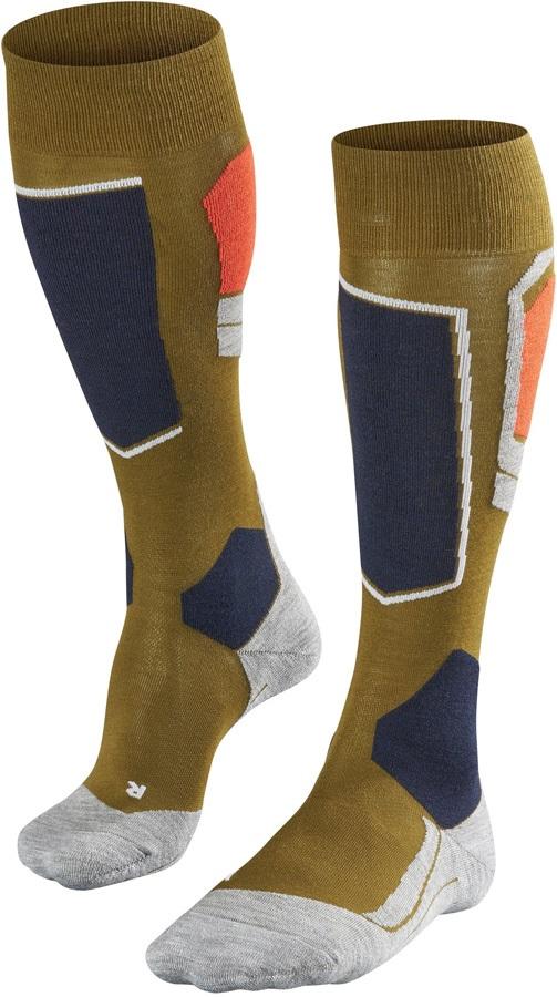 Falke SK4 Merino Wool Ski Socks, UK 5.5-7.5 Moss