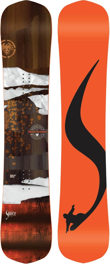 Never Summer Shaper Twin Rocker Camber Snowboard, 159cm 2020