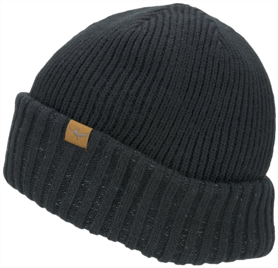 SealSkinz Waterproof Cold Weather Roll Cuff Beanie, L/XL Black