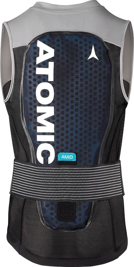 Atomic Adult Unisex Live Shield Vest AMID Armour Vest, M Black/Grey