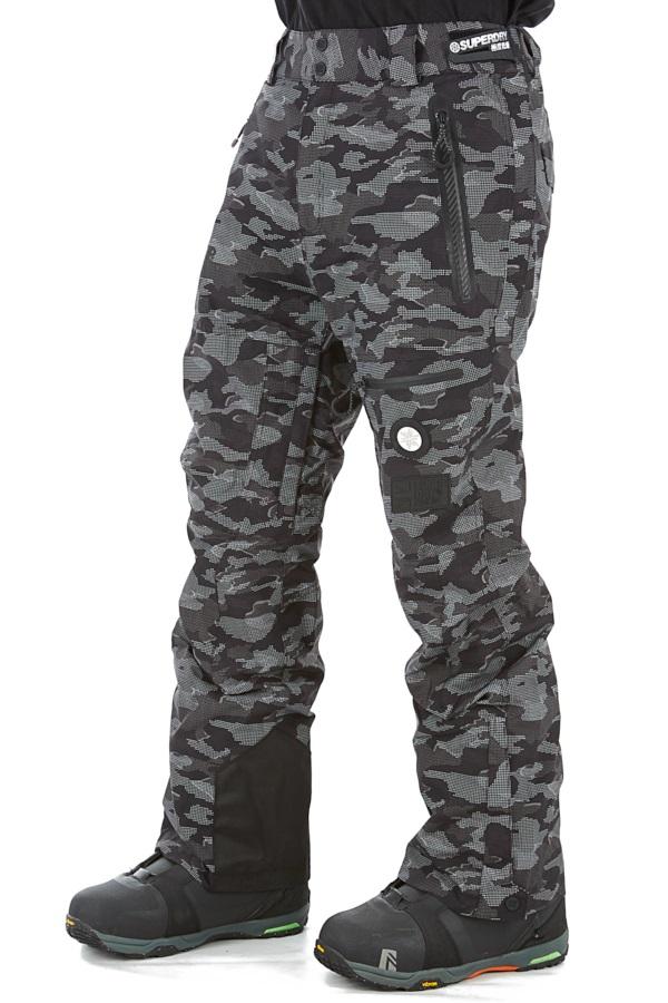 Superdry Pro Racer Rescue Ski/Snowboard Pants, M Black Dot Camo