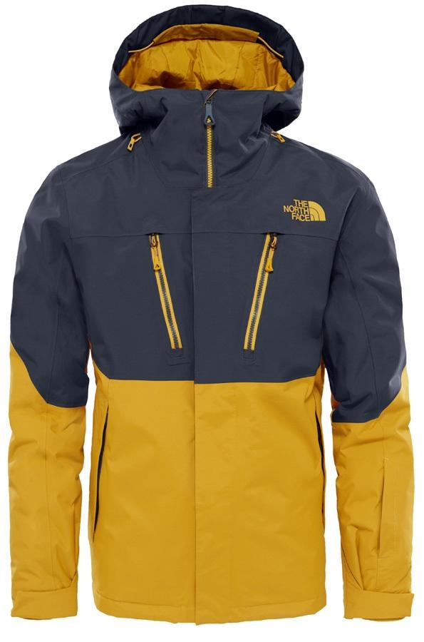 ea157a928 The North Face Fourbarrel Snowboard/Ski Jacket, L Yellow/Grey