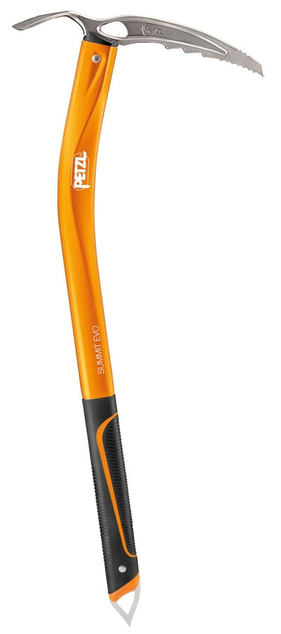 Petzl Summit Evo Adze Classic Mountaineering Ice Axe, 66cm Orange