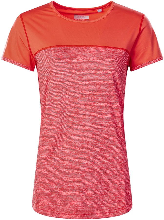 Berghaus Voyager Tech Women's Short Sleeve T-Shirt, UK10 Red/Hot Coral