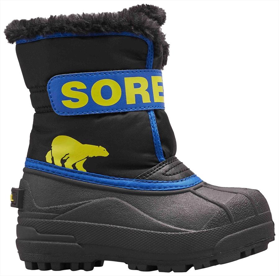 Sorel Snow Commander Kid's Snow Boots, UK Child 10 Black/Super Blue