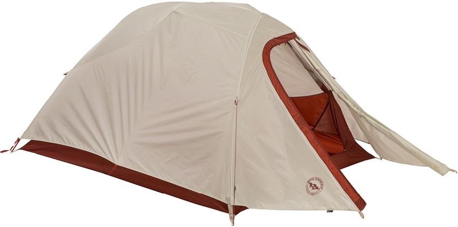 Big Agnes C-Bar 3 Lightweight Backpacking Tent, 3 Man Red