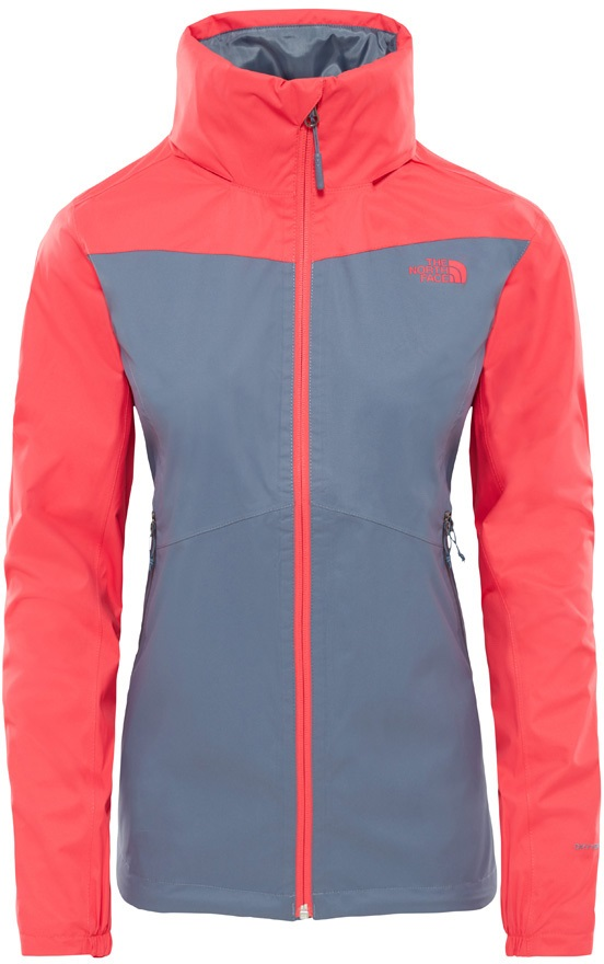 043698076caf8 The North Face Resolve Plus Jacket, UK 14 Grisaille Grey/Atomic Pink