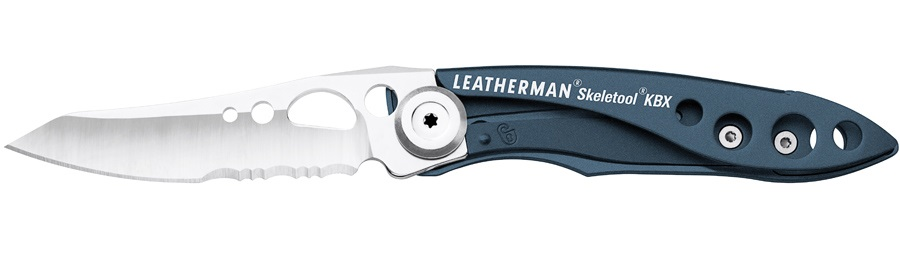 Leatherman Skeletool KBX Lightweight Folding Pocket Knife, Blue/Silver