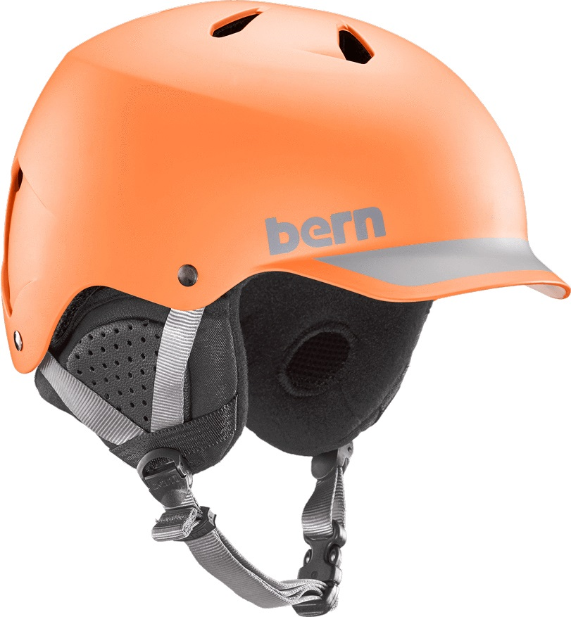 Bern Watts Eps Winter Snowboard Helmet L Matte Orange Grey
