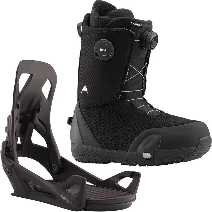 Burton Swath Boa Step On Snowboard Binding & Boots, UK 7 Black 2020