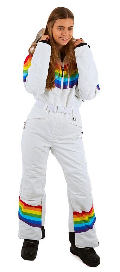 OOSC Snow Suit Women's Snowboard/Ski One Piece, S Rainbow Road
