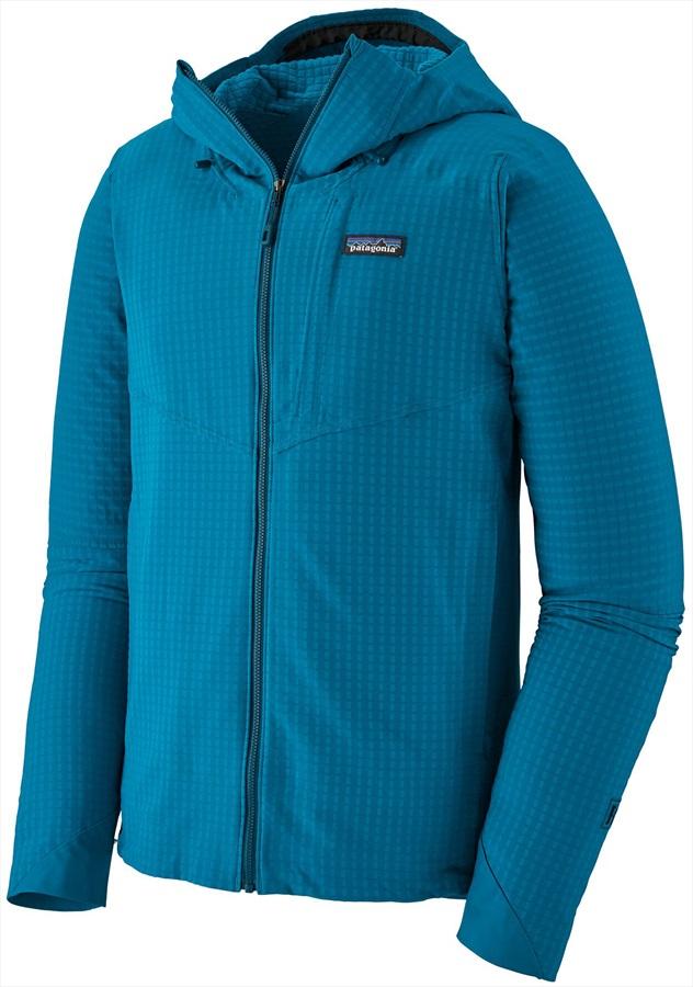 Patagonia R1 TechFace Hoody Softshell Jacket, L Balkan Blue