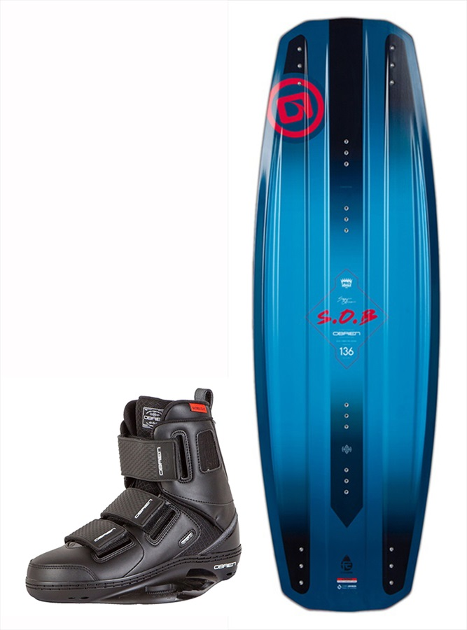 O'Brien SOB | GTX Wakeboard Package, 144|11-13 Blue Red 2019