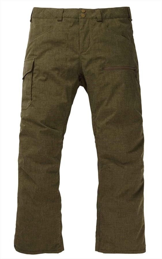 Burton Covert Insulated Snowboard/Ski Pants Trousers, M Keef Heather