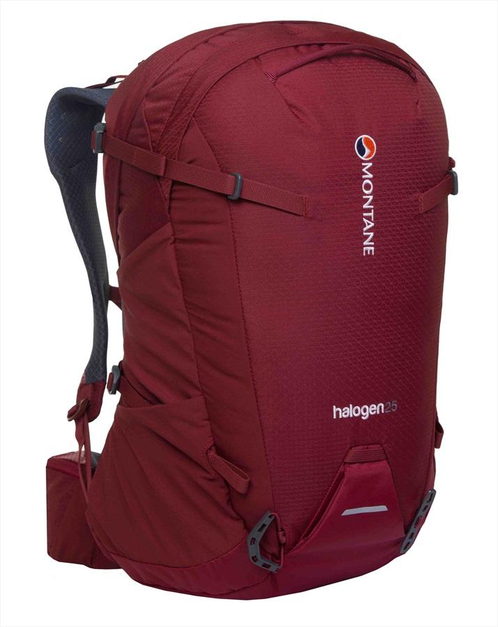 Montane Halogen Mountain Climbing Backpack, 25L S/M Redwood