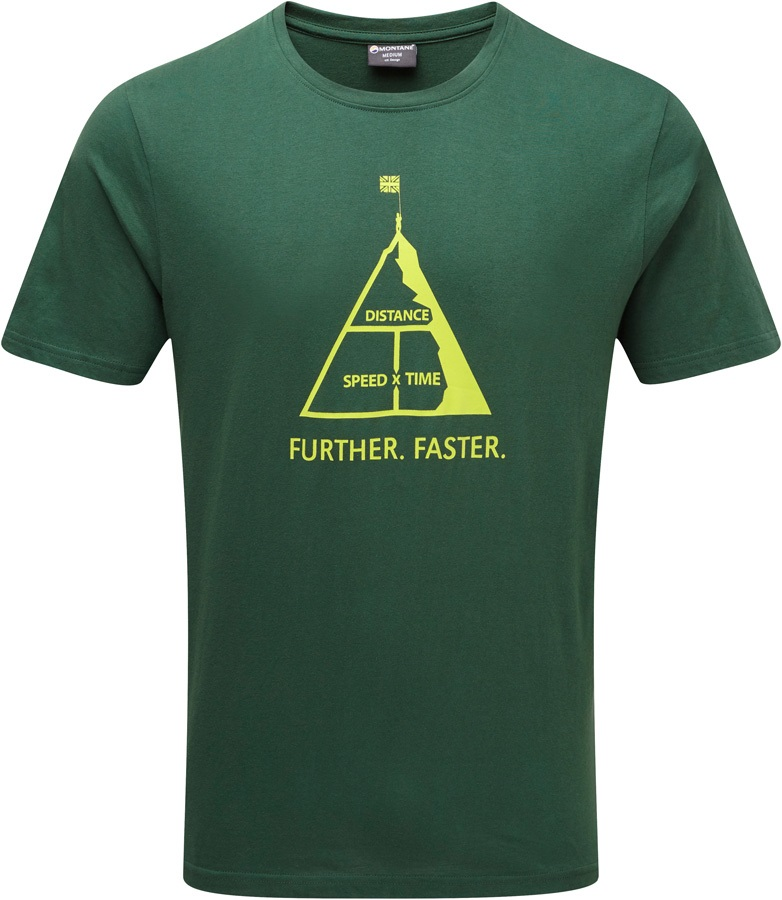 Montane Further Faster Short Sleeve Organic Cotton T-Shirt, XL Arbor