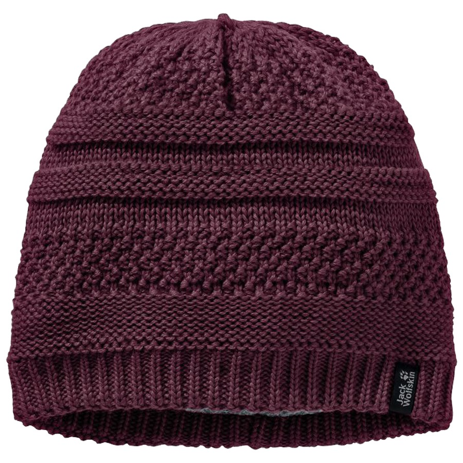 Jack Wolfskin Womens White Rock Cap Women Hat, M Burgundy