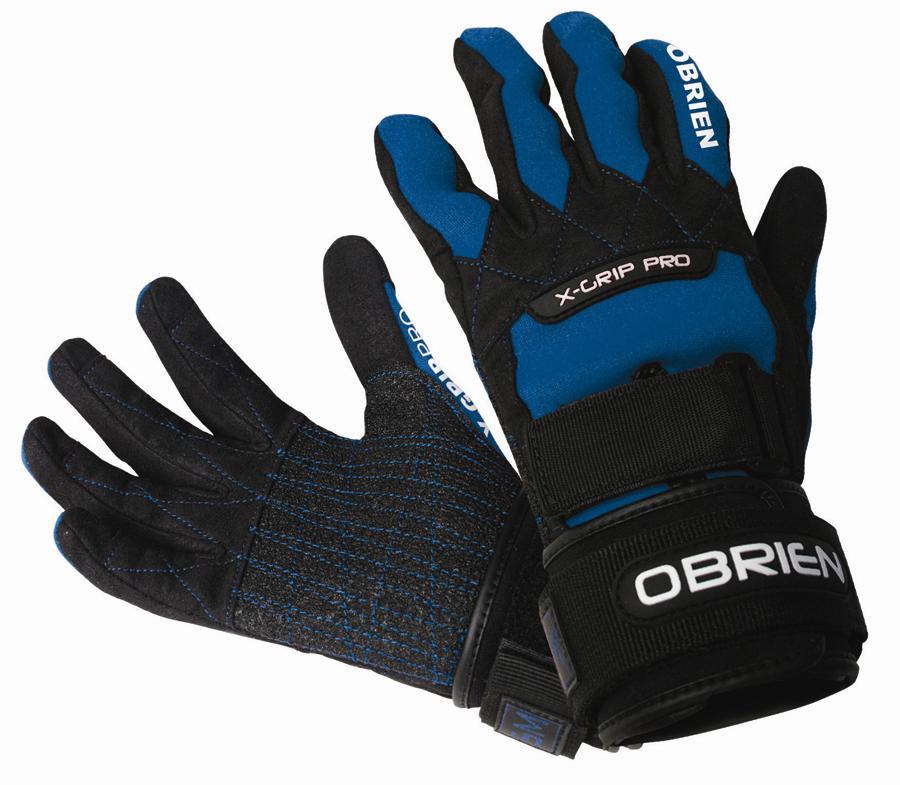O'Brien X Grip Kevlar Waterski Wakeboard Gloves, XS Black Blue