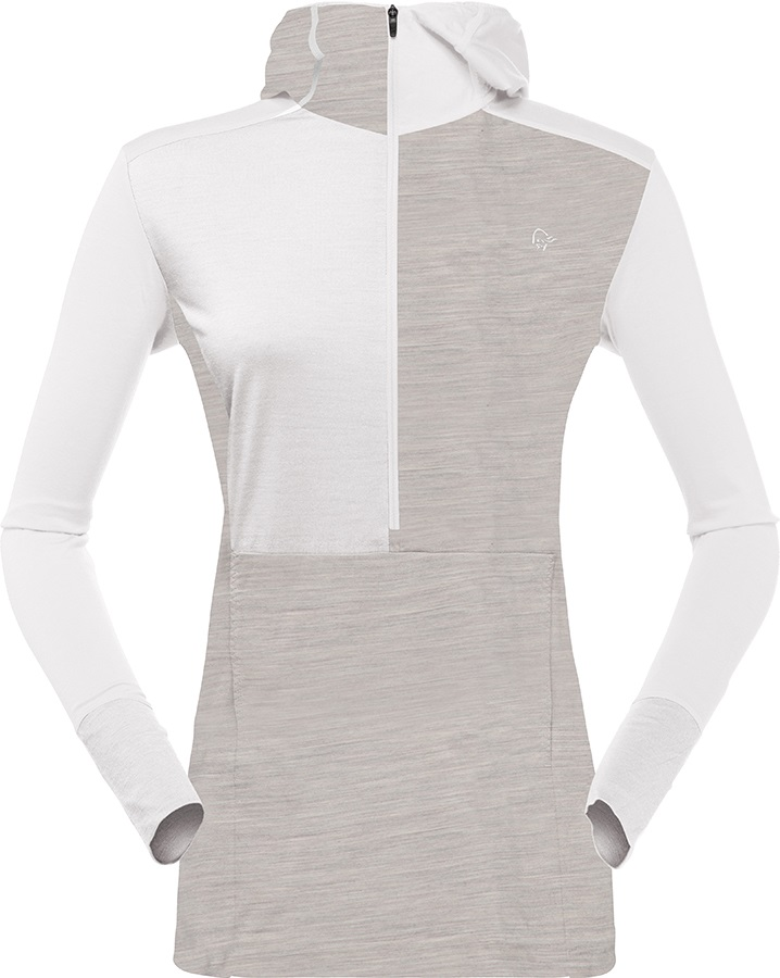 Norrona Women's Wool Thermal Hoodie M Pure Cashmere