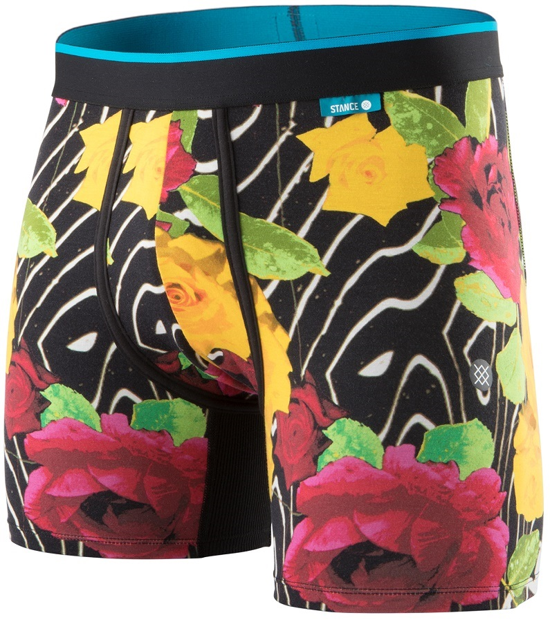 Stance Wholester Butter Blend Boxer Shorts Underwear, M Marble Flowers