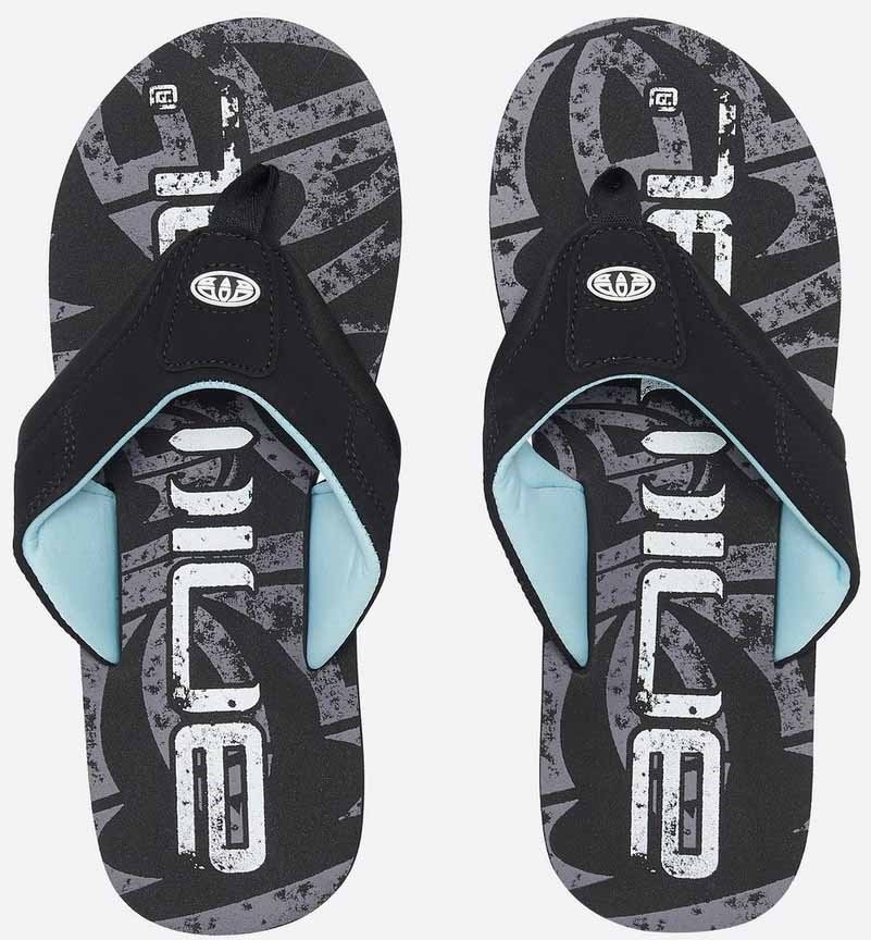 Animal Jekyl Logo Flip Flops, UK 12 Black