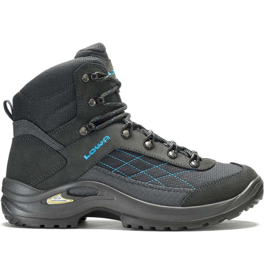Lowa Adult Unisex Women's Hiking Boots, UK 6 Antracite /Turq