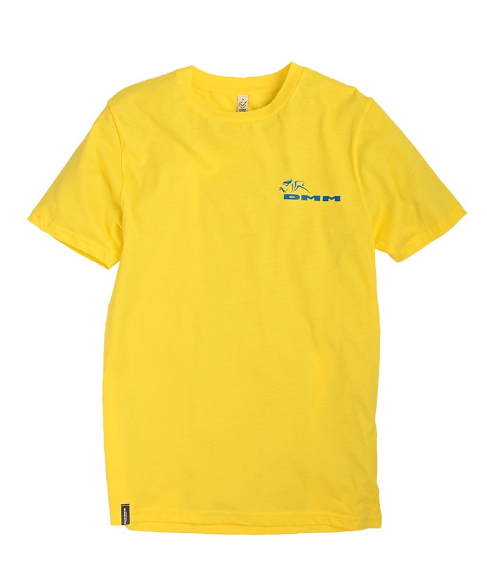 DMM Logo Climb Now Work Later Rock Climbing T-Shirt, XL Yellow