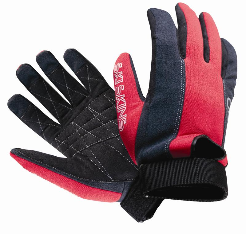 O'Brien Ski Skin Water Ski Gloves XX Large Black / Red