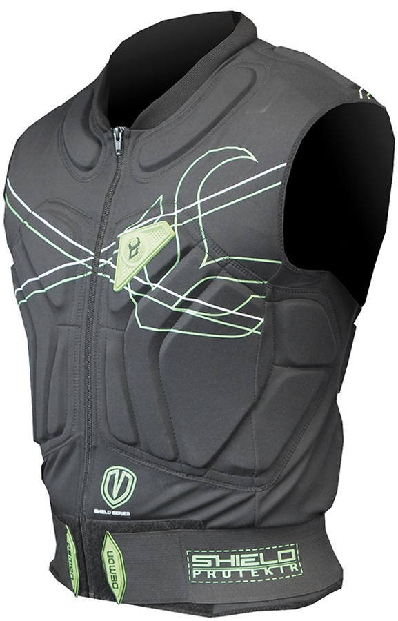 Demon Shield Ski/Snowboard Body Armour Vest XS Black/Green